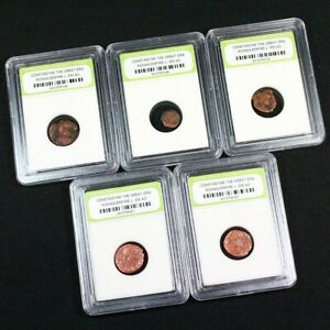 5 Slabbed Ancient Constantine the Great Coins c330 AD $29.50