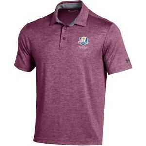 2020 Ryder Cup Under Armour Heathered Playoff Polo - Maroon