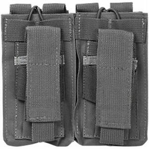 NcSTAR Vism Double Magazine Pouch for 5.56 and all caliber Handguns, Urban Gray