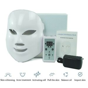LED Light Therapy Face Acne Mask for Bactericidal Wrinkles&Skin Rejuvenation USA