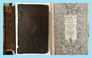King James rare She Bible dated 1613 Apocrypha Jesus Christ God Religion scarce