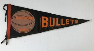 Late 1940's 1950's Baltimore Bullets Basketball Pennant 28