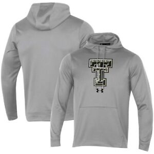 Texas Tech Red Raiders Under Armour Camo Pullover Hoodie - Heathered Gray