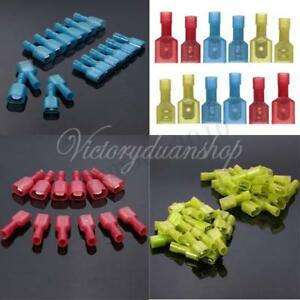 50-150X Female&Male Insulated Wiring Crimp Electric Terminal Connectors Spades