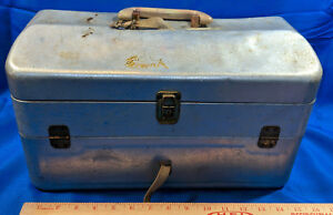 LARGE VTG Fishing Folding Tackle Box FULL Estate Find LOT Wood Lures Perrine Fly