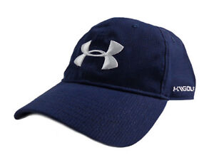 NEW Under Armour Golf Free Fit Armourvent NavyWhite Adjustable HatCap