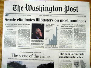 Best 2013 newspaper DEMOCRATS 1st to INVOKE the quot;NUCLEAR OPTIONquot; in US SENATE