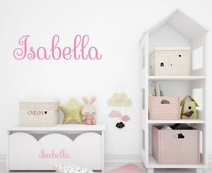 Personalized Child#x27;s Name Wall Decal Vinyl Baby Nursery Room Girl Name Decal