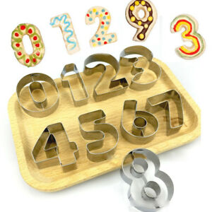 Cookie Pastry Cutter Mould - Number Set- Kitchen Craft Numeral 0 1 2 3 4 5 6 7 8