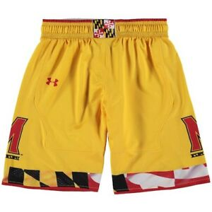 Maryland Terrapins Under Armour Youth Replica Basketball Shorts - Gold