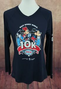 Champion 2018 Walt Disney World 10K Long Sleeve V-Neck Running Shirt Women's M