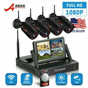 ANRAN Wireless Security Camera System 4CH HD WiFi 1080P NVR Home Outdoor 1TB HDD