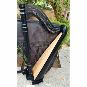 New 34 Strings Lever Harp Round Back Pillar Design Concert Harp With Bag and Key