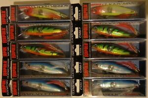 Lot of 10 New Rapala Clackin' Minnow CNM-7 Crank Bait Fishing Lures SBFTCLN