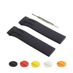 21mm Silicone Rubber Watch Strap Band Fits For Tissot T Race T027 T048 W Tool