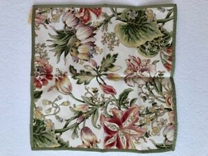 KAREN LEE BALLARD SET OF 8 GARDEN LILY NAPKINS - NEW WITH TAGS
