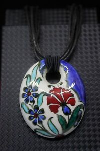 Hand Crafted Turkish Ceramic Pendant Necklace