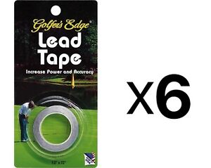 Unique Golf Lead Weight Tape For Putter & Club Golfer Accessory (6-Pack)