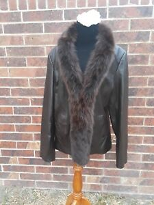 Fox Collar large Leather Jacket