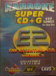 CHARTBUSTER ESSENTIAL SUPER CD+G Vol-2 450 Tracks Playable on CAVS System or PC