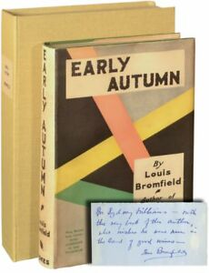 Louis Bromfield EARLY AUTUMN Signed First Edition 1926 Pulitzer Prize #134626