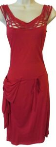 NWT NEW Antonio Berardi 42 red dress side pocket cocktail party designer