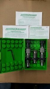 Redding .223 Competition Bushing Neck Sizing 3-Die Set #58111 - WITH EXTRA