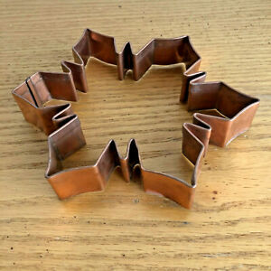 Huge Copper Snowflake Cookie Cutter A  or Wall Decor    D  6