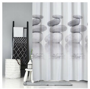 A98 Stone Waterproof Mould Proof Bathroom Partition Shower Curtain 180X200CM Z