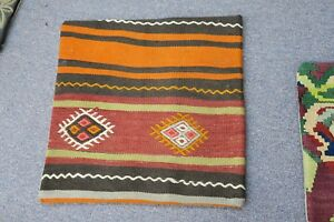 Turkish Anatolian Kilim Pillow Cushion Hand Woven Wool 18