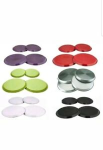 4 PCS STAINLESS STEEL COLOURED HOB COVER PROTECTOR METAL RING ELECTRIC COOKER GBP 7.99