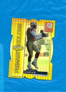 TERRELL OWENS 1999 DONRUSS ELITE PRIMARY COLORS YELLOW DIE CUT #1025 49ERS ! !