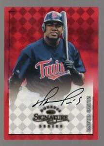 DAVID ORTIZ 1998 DONRUSS SIGNATURE SERIES ON CARD AUTO AUTOGRAPH BOSTON RED SOX
