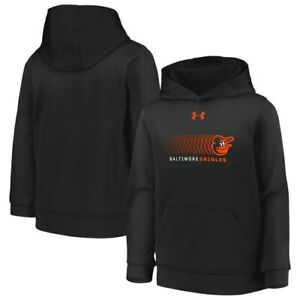 Baltimore Orioles Under Armour Youth Performance Pullover Hoodie - Black
