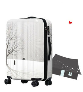 A354 Fashion Winter Snow Universal Wheel Travel Suitcase Luggage 24 Inches W