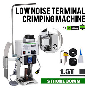 1.5T Super Mute Terminal Wire Crimping Machine With OTP Transverse Mold 110V