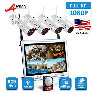 ANRAN 8CH NVR 1TB Wireless CCTV Camera Security System 12