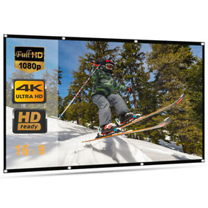 120'' Portable Foldable Projector Screen 16:9 HD Home Theater Outdoor 3D Movies