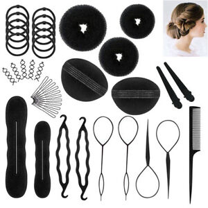 71PcsSet Hair Styling Accessories Clip Bun Maker Hair Twist Braid Ponytail Tool