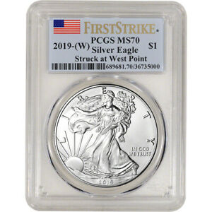 2019 W American Silver Eagle PCGS MS70 First Strike