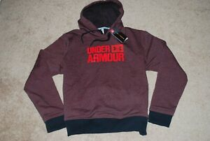 NEW Women's Under Armour Threadbourne Dark Heather Red Sweatshirt (XX-Large)