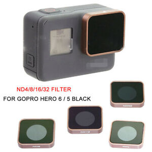 For Gopro Hero 5 6 Black Camera ND4 ND8 ND16 ND32 Lens Filter Replacement US