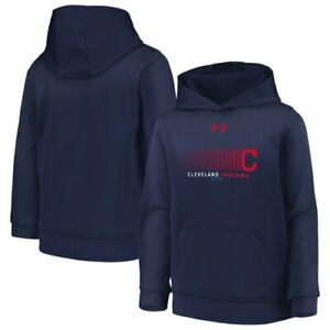 Cleveland Indians Under Armour Youth Armour Performance Fleece Pullover Hoodie -
