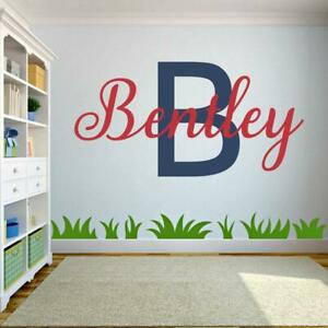 Boys Name Wall Decal Vinyl Baby Nursery Bedroom Personalized Name Wall Art