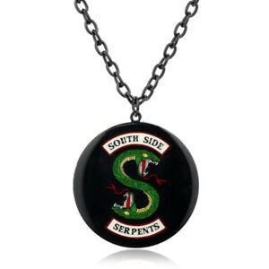 TV Show Necklace Jewelry Riverdale Gift Enamel Serpents Pendant South side Girls
