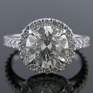 4.82 Carat Round Cut Diamond Engagement Wedding Solitaire Ring FSI1