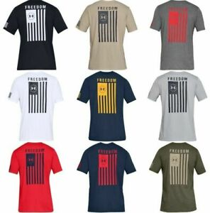 Under Armour 1333350 Mens Athletic UA Freedom Flag T Shirt Short Sleeve Tee $24.97