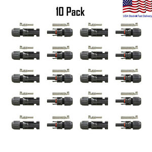 10 Pairs 30A Male Female Wire PV Solar Panel Cable Connector Set Waterproof