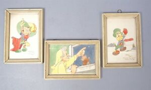 Charming 1940 Group 3 Original Drawings of Disney#x27;s Pinocchio Characters $119.98