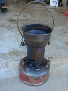 Vintage Steampunk Antique Lead Melting Blacksmith Pot Burner Stove Tool Smelter